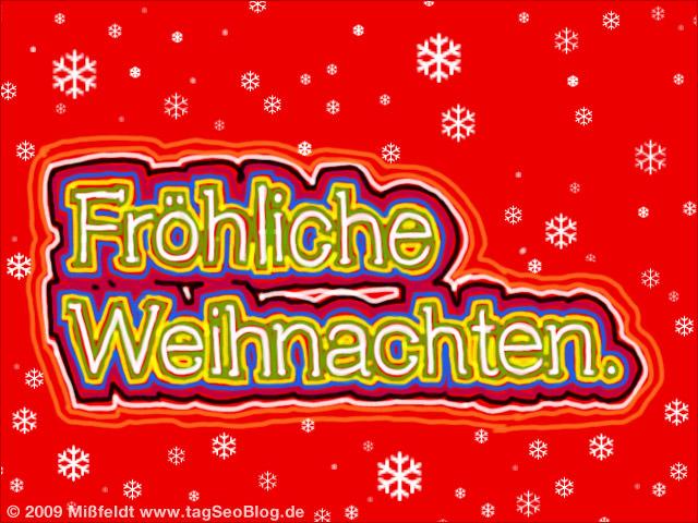 Fröhliche Weihnachten - Grußkarte