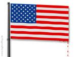 USA-Flagge mit Leck