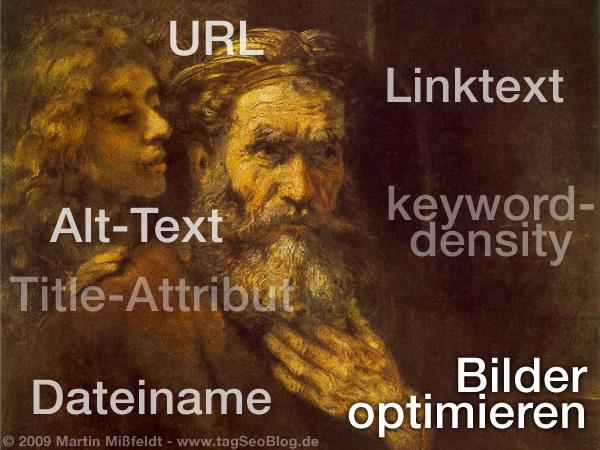 Bilder optimieren - SEO für Bilder (Detail aus Rembrandts Evangelist Matthäus mit den Engel)