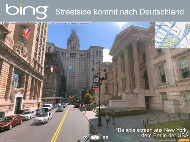 bing Streetside kommt nach Deutschland