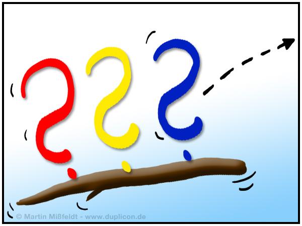 Blogstöckchen 3 Fragezeichen