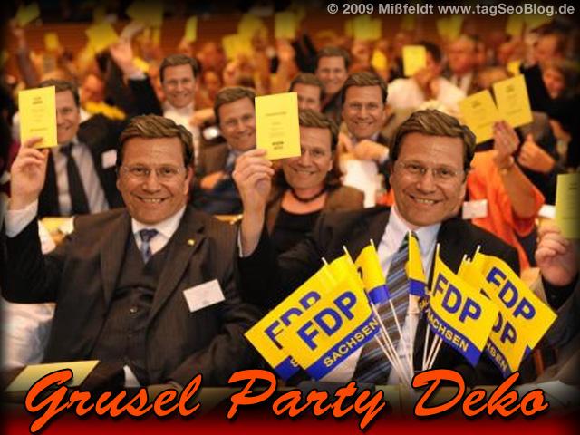 Grusel Party Dekoration (Tipp!)