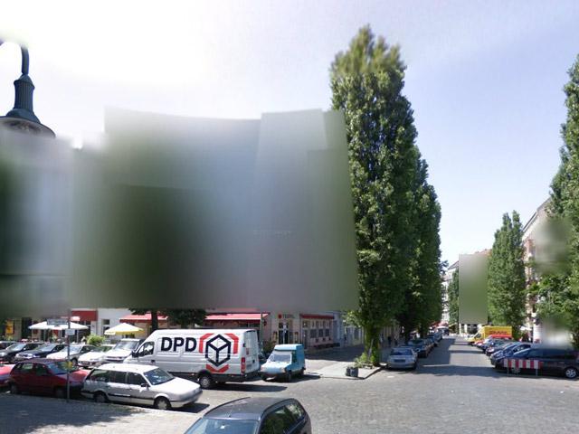 Streetview in Berlin - verpixelte Fassaden