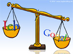 Waage: Ich vs. Google