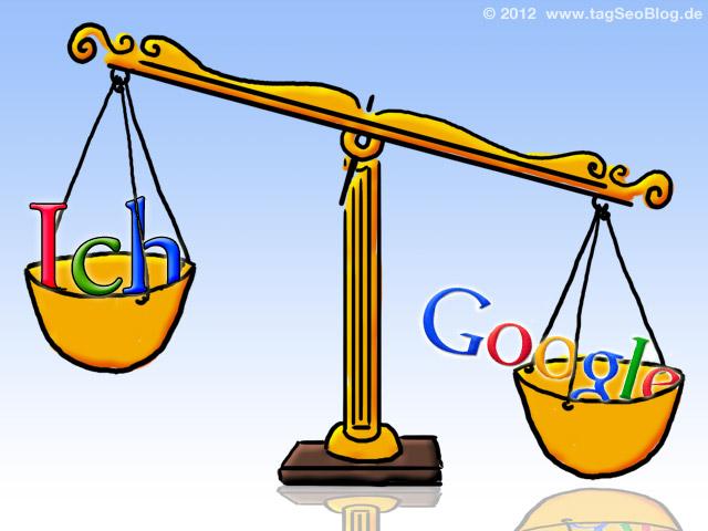 Waage: Ich vs. Google (Meinung vs. Ranking)
