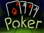 Game: Poker Asse Leuchtschrift