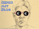 Geld verdienen (Kopf mit Eurozeichen in den Augen)