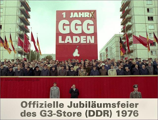 G3-Store (GGG-Laden) - einjähriges Jubiläum