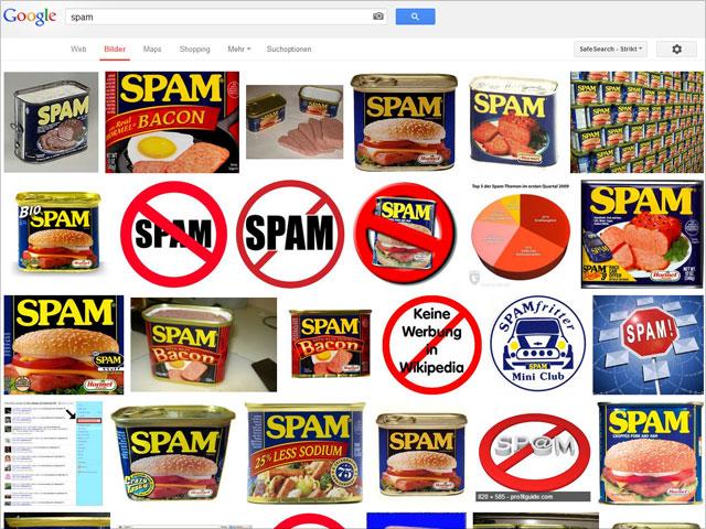 Spam in der Google Bildersuche ...