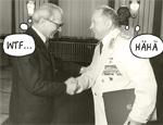 Honecker und Mielke (mit MacBook)