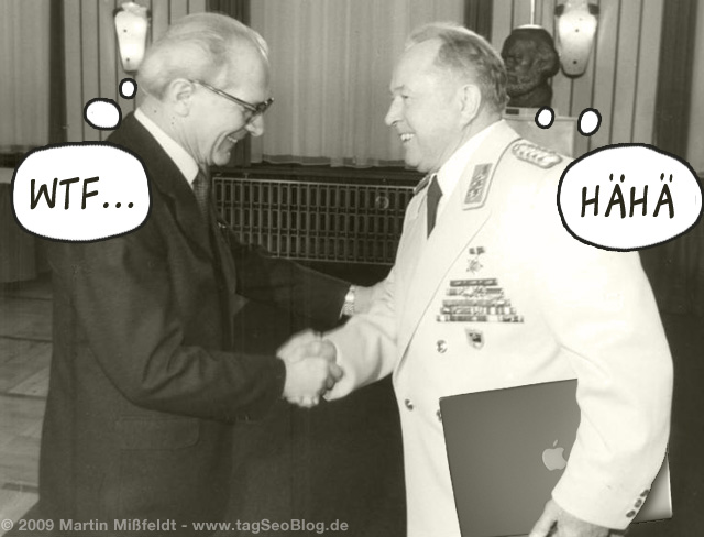 Honecker und Mielke (mit macBook-Pro)