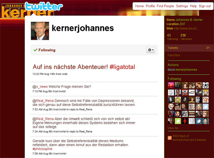 Johannes B Kerner Twitter-Fake-Account