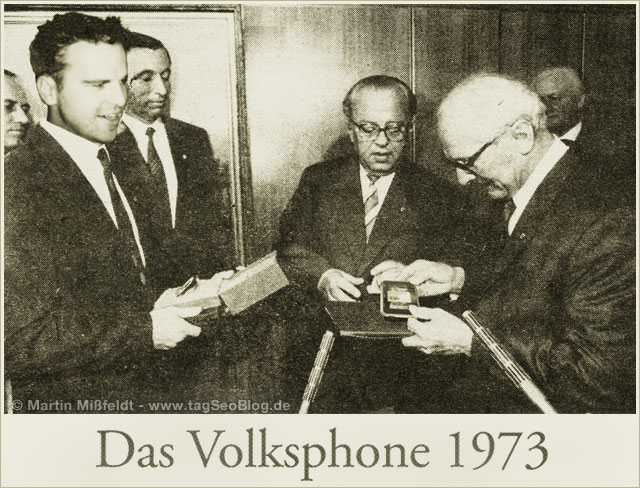 Digitale Bildmontage: Das Volksphone