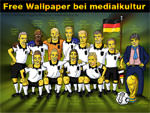 Free Wallpaper - Simpsons Fussball WM 2010