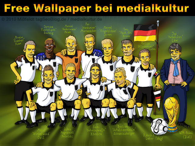 Free Wallpaper - Simpsons Fussball WM 2010