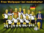 WM-Wallpaper: DFB-Team als Simpsons