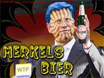 Alles klar für die Party? Merkels Bier