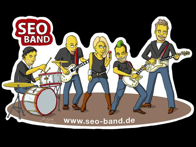 Seo-Band im Simpson-Stil gemalt