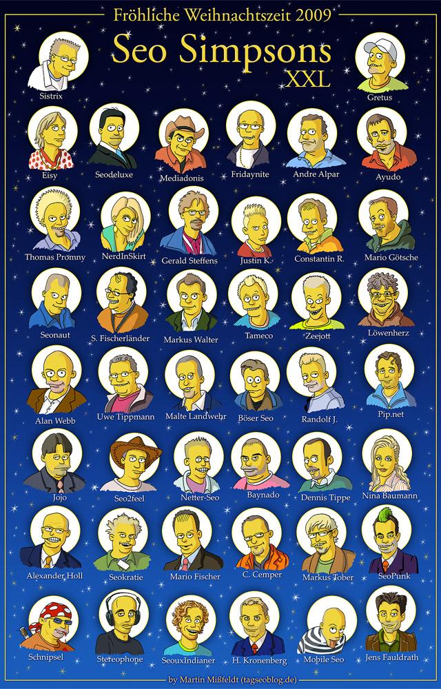SEO-Simpsons XXL - Weihnachtszeit-Poster