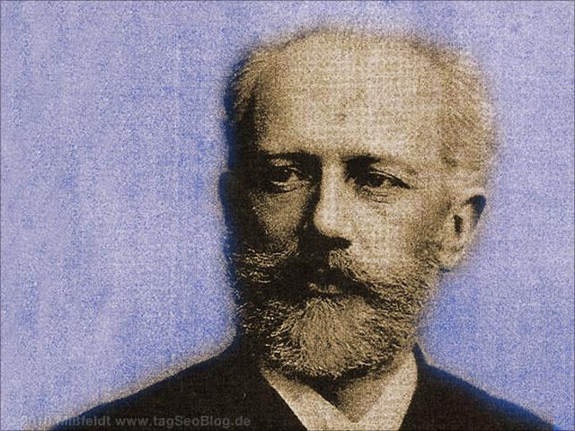Peter Pjotr Iljitsch Tschaikowsky (altes Foto)