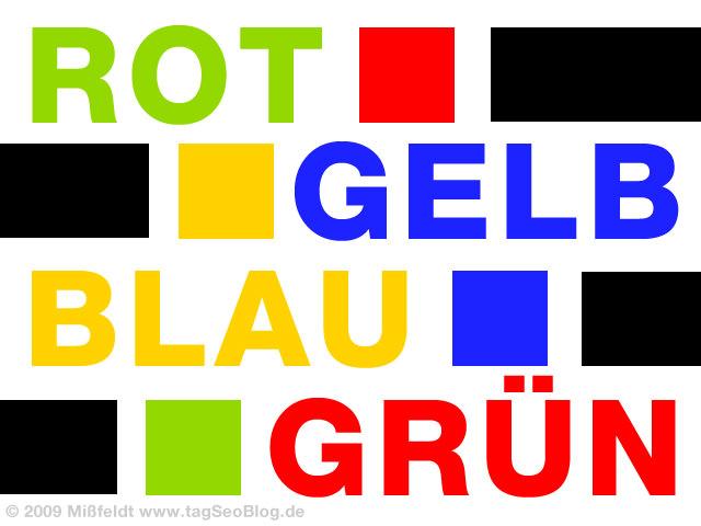 Farben - Rot, Grün, Gelb, Blau