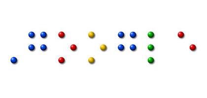 Offizielles Google Doodle : Braille (Blindenschrift)