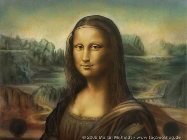 Mona Lisa - digitale Malerei