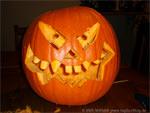Gruseliger Halloween Kürbiskopf (Vorlage zum selber schnitzen)