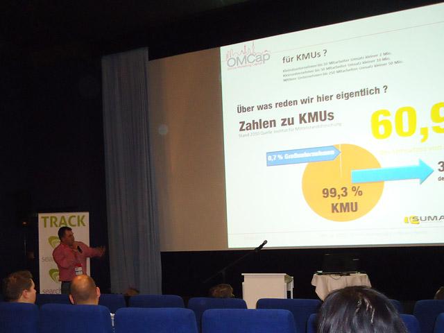 Marco Janck (Seonaut) beim KMU Vortag