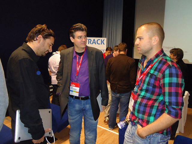 Fabian Rossbacher, Jens Fauldraht und Randolf Jorberg im Expertentalk