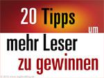 20 Tipps um mehr Leser zu gewinnen