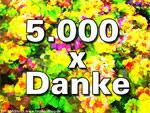 5.000 x Danke
