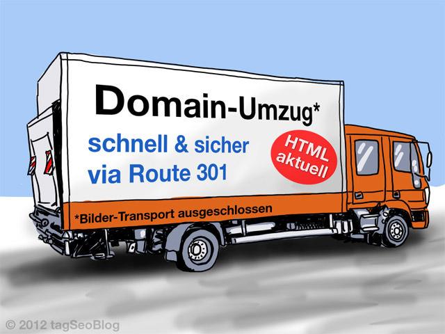 Domain-Umzug per 301