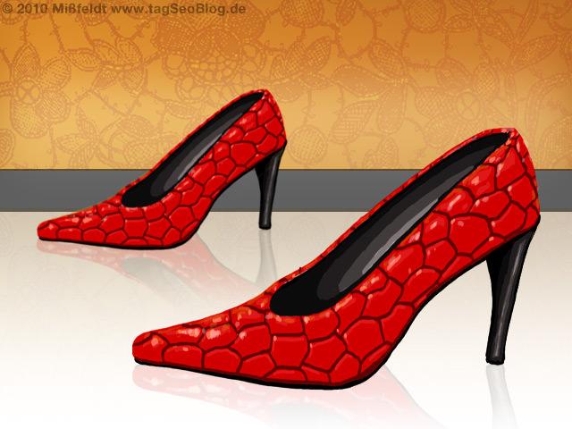 Neue Mode: Schicke rote Schuhe (Leder)