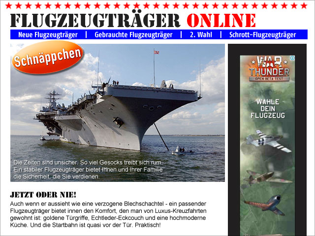Flugzeugträger Online (Schäppchen Blog)