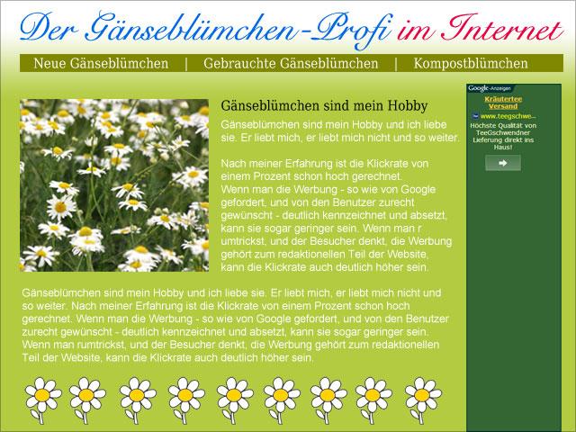 Gänseblümchen Online Profi