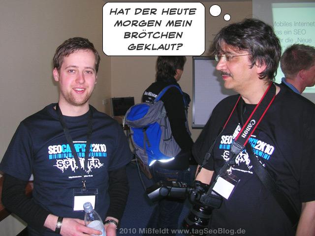 Malte Landwehr und Gerald Steffens (Brötchen geklaut)