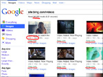 Google Bildersuche mit bing Video-Thumbnails