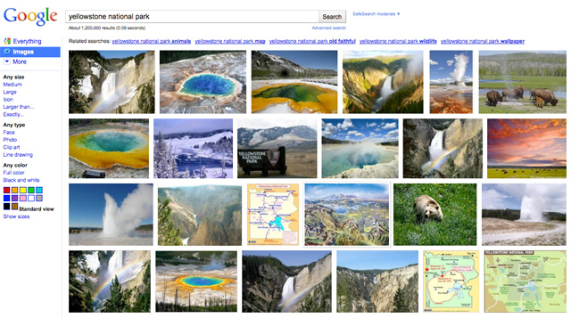 new Google Images (yellowstone national park)