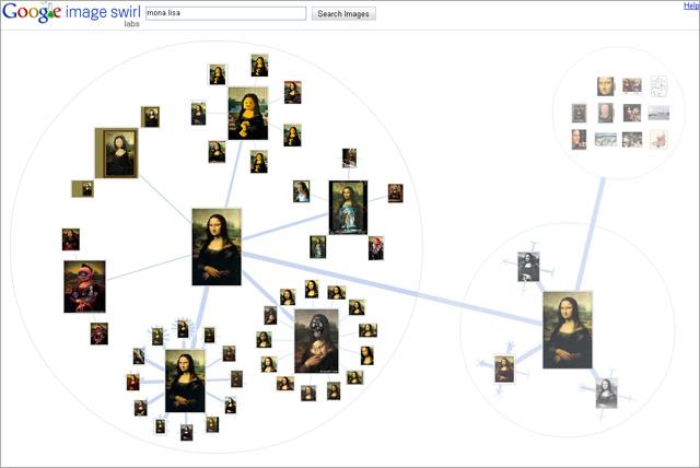 Screenshot Google Imgages Swirl 2 - nach zwei Klicks zum Key Mona Lisa