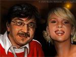Gerald Steffens (minivip) mit Scarlett Johansson
