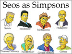 German Seos as Simpsons