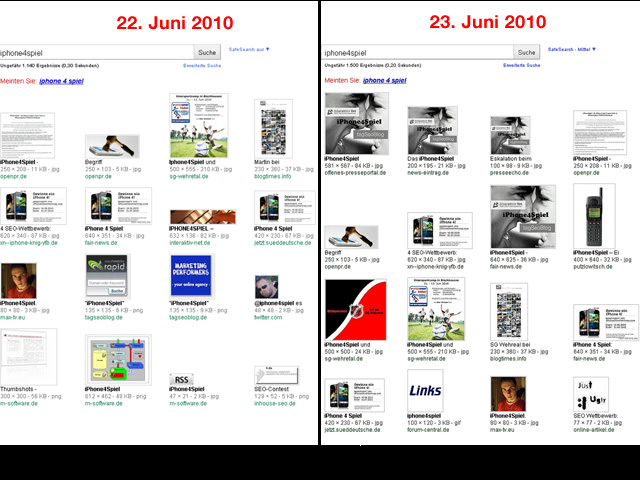 Google-Bildersuche: Analyse der Indexierung