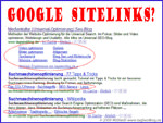 Google Sitelinks als eyecatcher (long und mini)