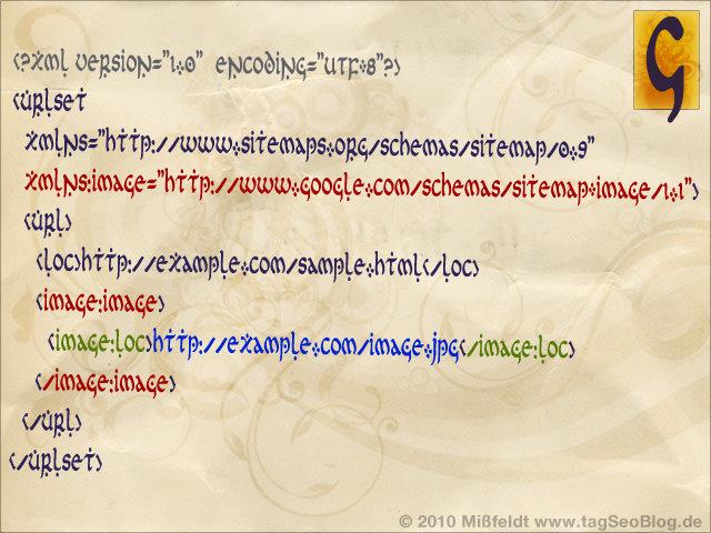 Neue Sitemap für Google Images