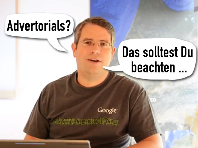 Matt Cutts: Advertorials ...