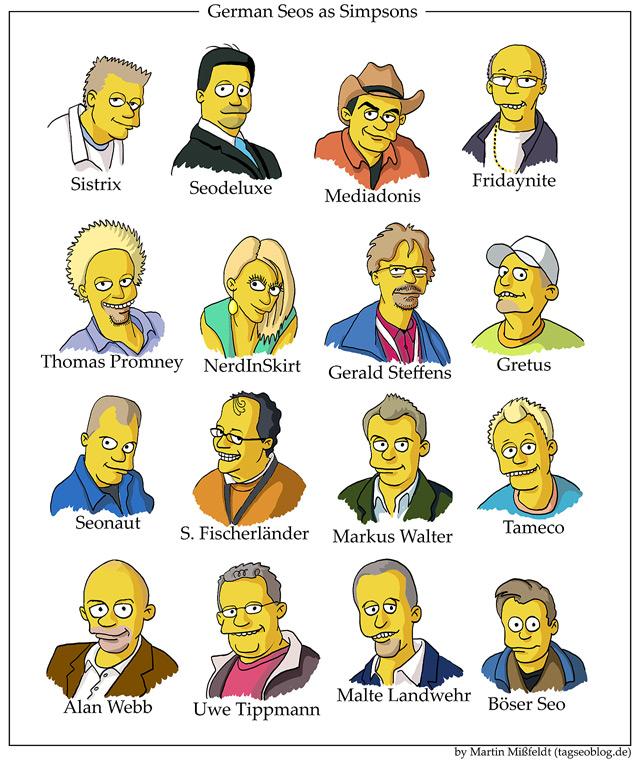 German Seos as Simpsons - Poster
