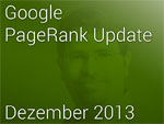 Google pageRank Update Dez. 2013