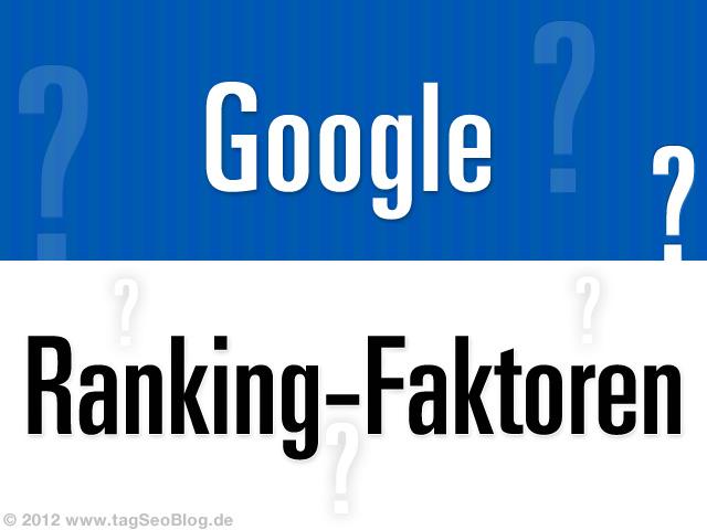 Google Ranking-Faktoren 2012