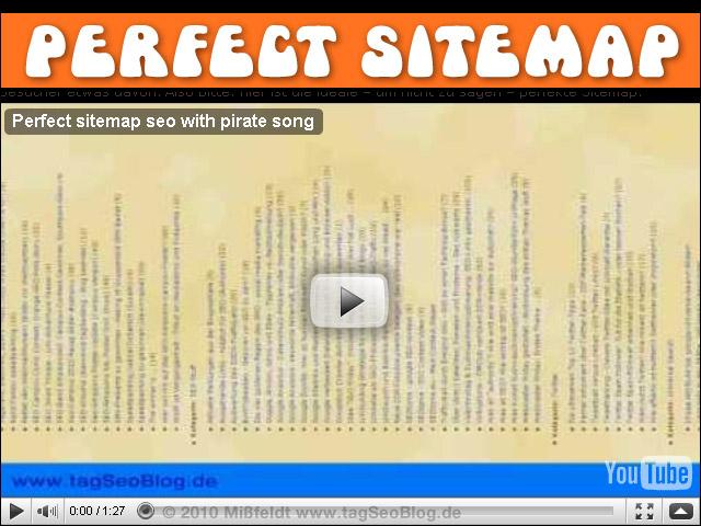Ideale, sogar perfekte Sitemap dank Video